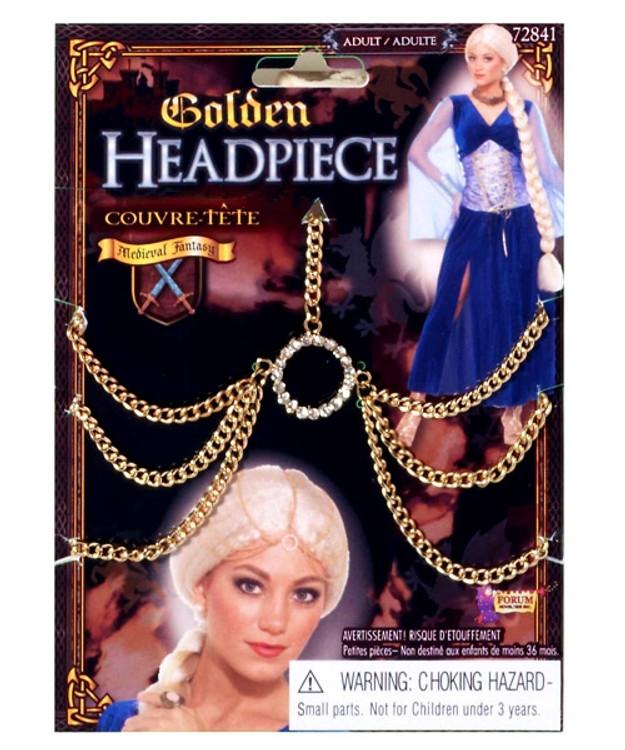 Medieval Gold Chain Hair Piece
