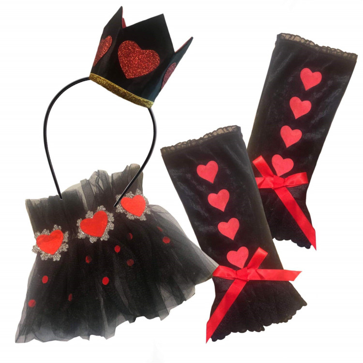 We're All Mad Here Accessory Set - Queen Of Hearts