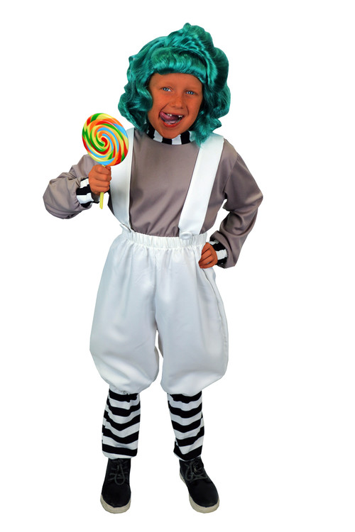 Willy Wonka - Oompa Loompa Kids Costume
