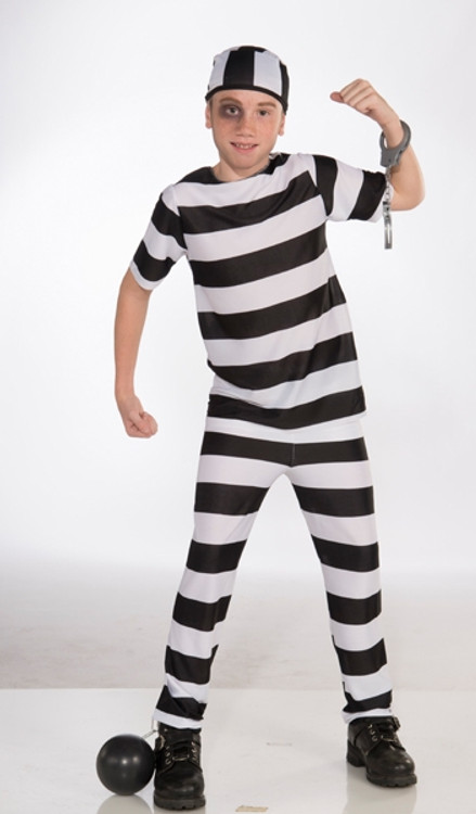 Convict Prisoner Child Costume