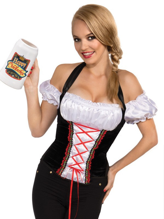 Oktoberfest Beer Garden Girl Corset