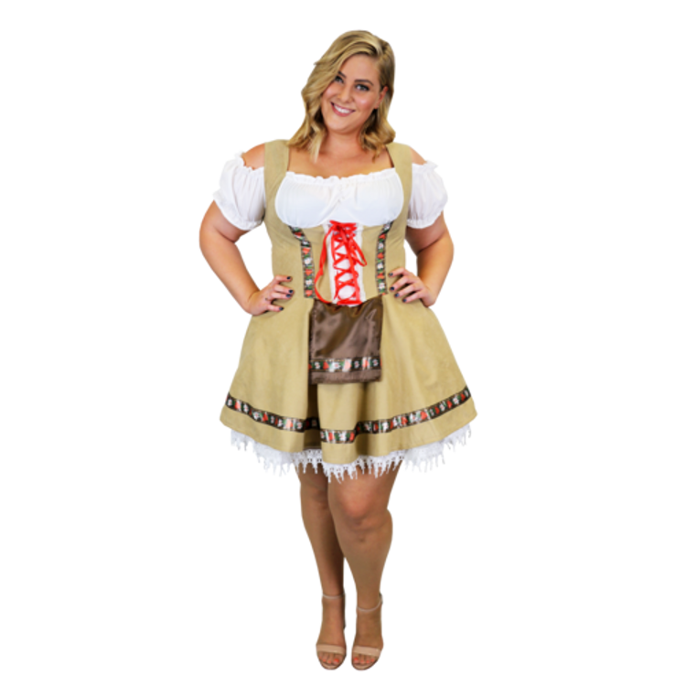 Oktoberfest Alpine Girl Plus Size Costume