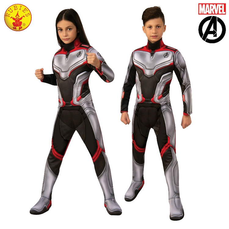 Avengers 4 Unisex Deluxe Team Suit Kids Costume