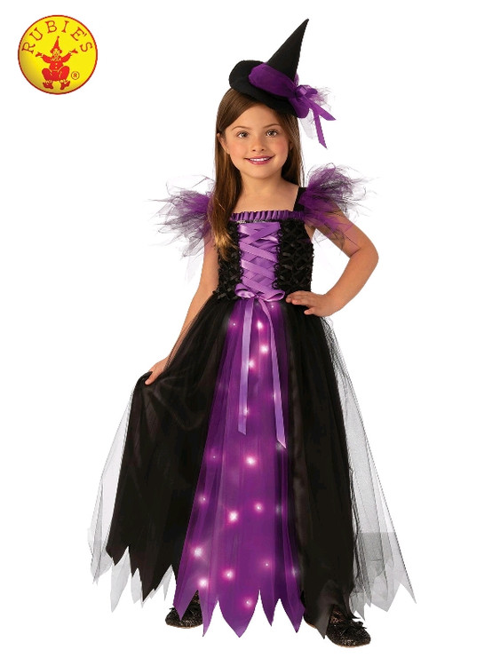 Witch Light Up Girls Costume