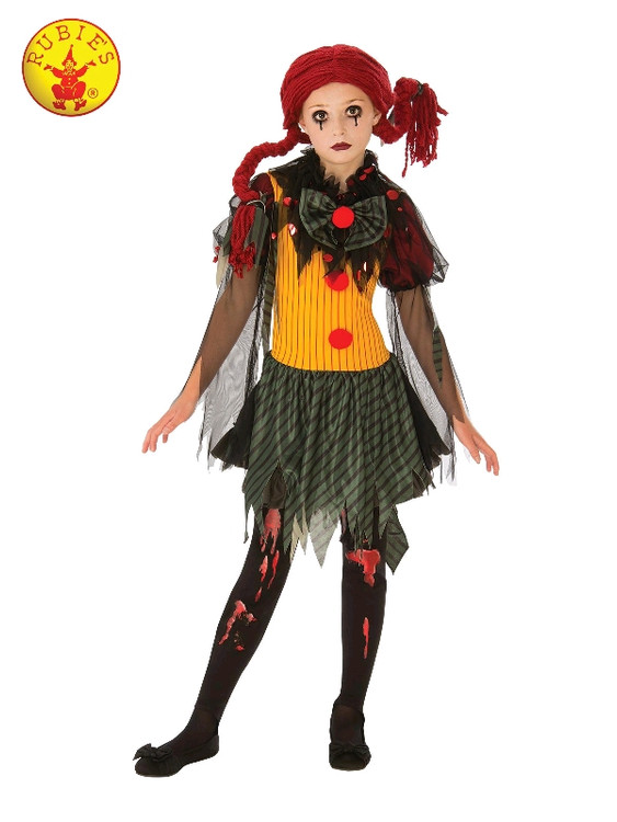 Zombie Clown Girls Costume