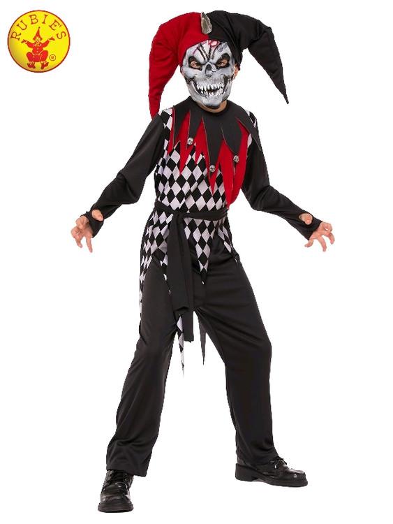 Evil Jester Kids Costume