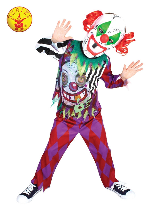 Scary Clown Lenticular Kids Costume