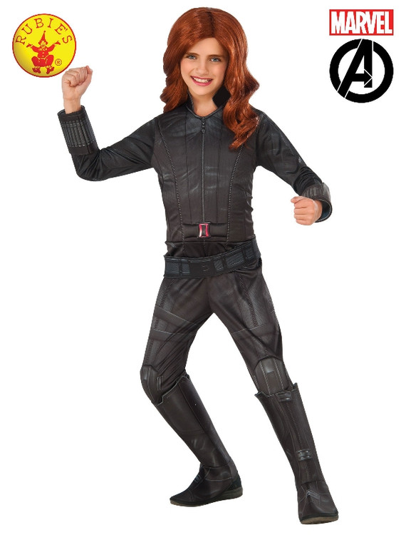 Black Widow Avengers Deluxe Girls Costume