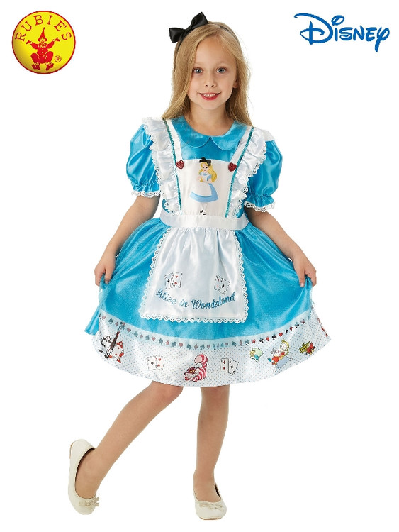 Alice in Wonderland Deluxe Girls Costume