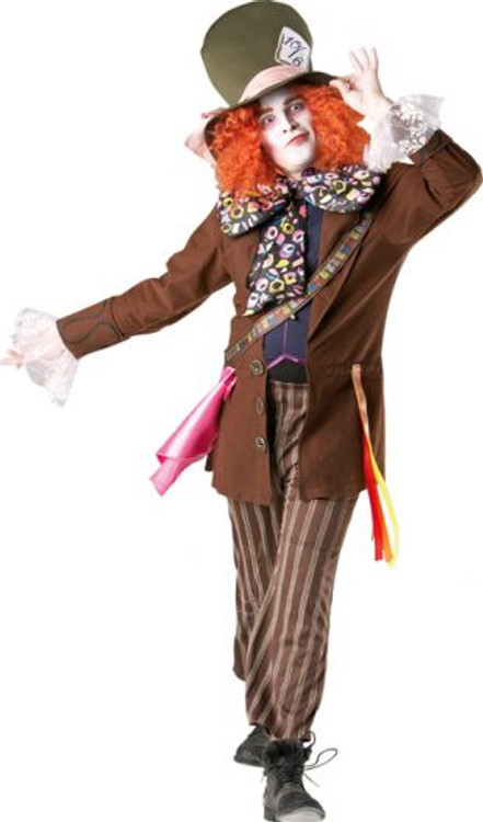 Join adult deliriously mad hatter costume can