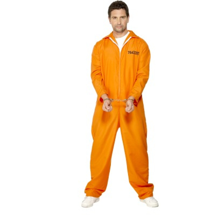 Prisoner - Got Busted Orange Mens Costumes