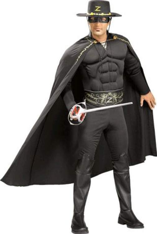 Zorro - Muscle Chest Mens Costumes