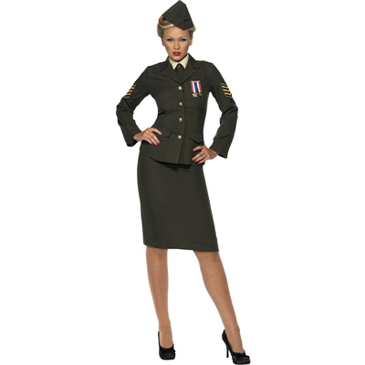 Army Wartime Officer Womens Costume