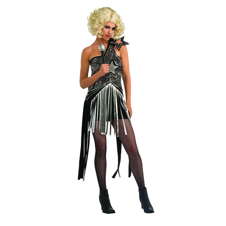 Lady Gaga Star Dress Womens Costume