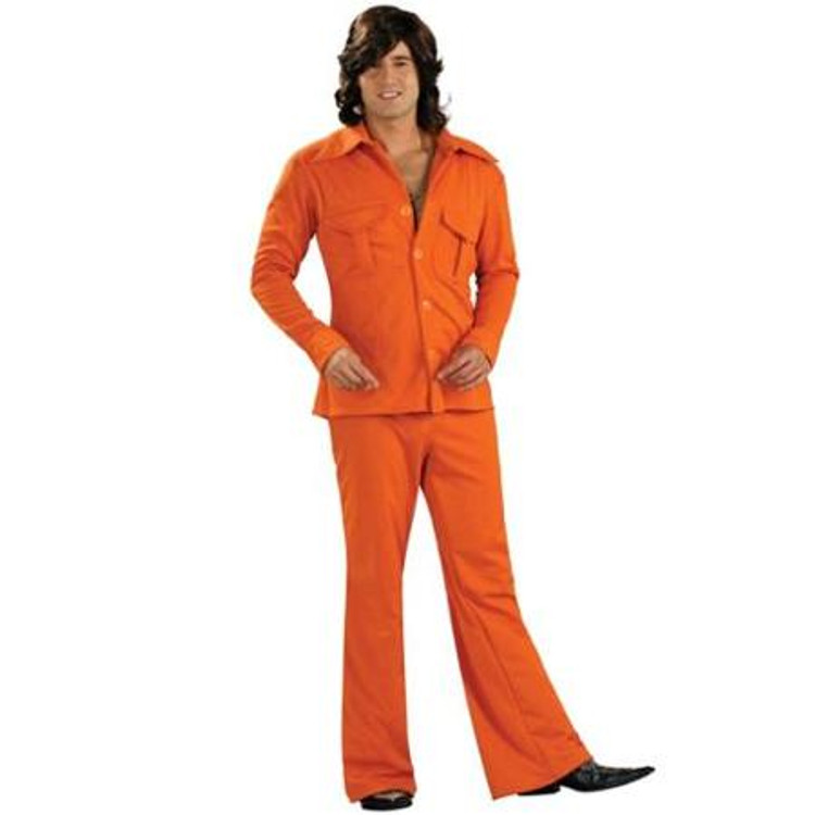 70's Safari Suit  or Leisure Suit - Orange