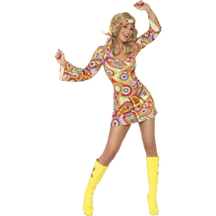 60'S   70'S 60's Hippy Chick Sexy Womens Costume