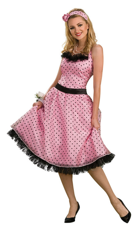 Polka Dot Prom 1950's Womens Costume