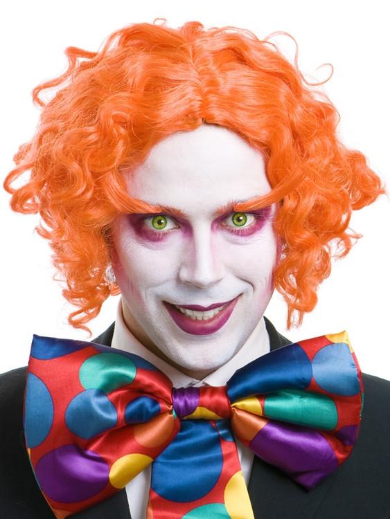 Alice In Wonderland Mad Hatter Wig And Eyebrows- Bright Orange