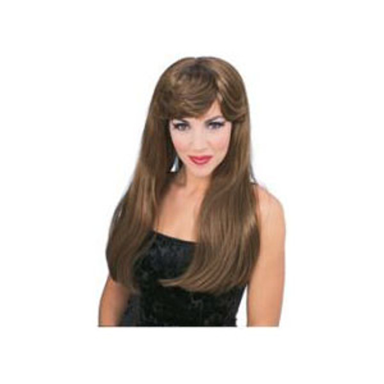 Long Glamour Wig - Brown