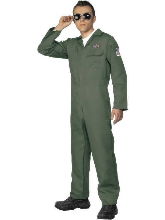 Aviator Top Gun Jumpsuit  Mens Costume
