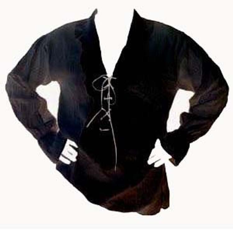 Pirate Black Shirt Mens Costumes