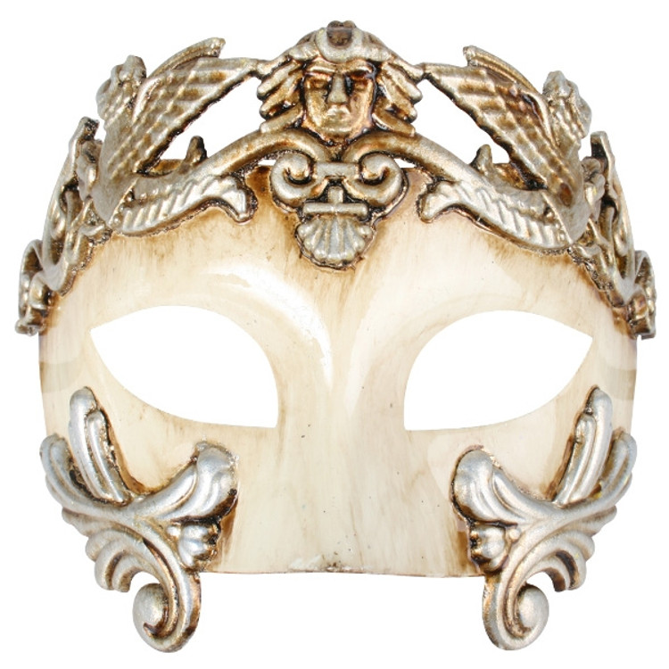 ANTONIO Roman Platinum & Ivory Eye Mask