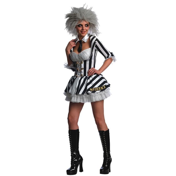 Beetlejuice Sexy Womens Costume