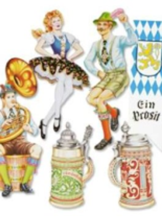 "German Oktoberfest Cut Out 20"" Pkt 6"