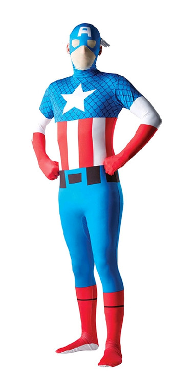 Captain America 2nd Skin Mens Costume