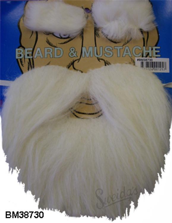 Christmas White Beard & Moustache - Santa