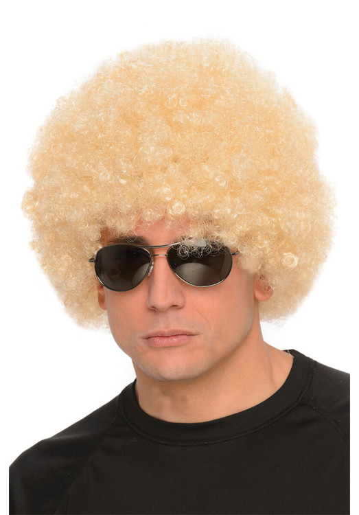 Afro Blond Kim Wig