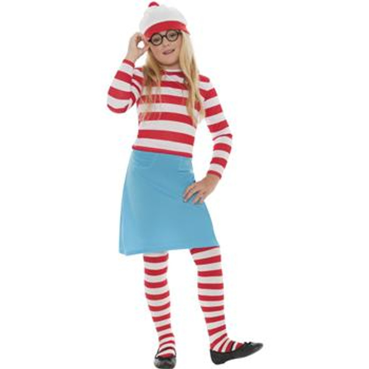 Wheres Wally? Wenda Girls Costume