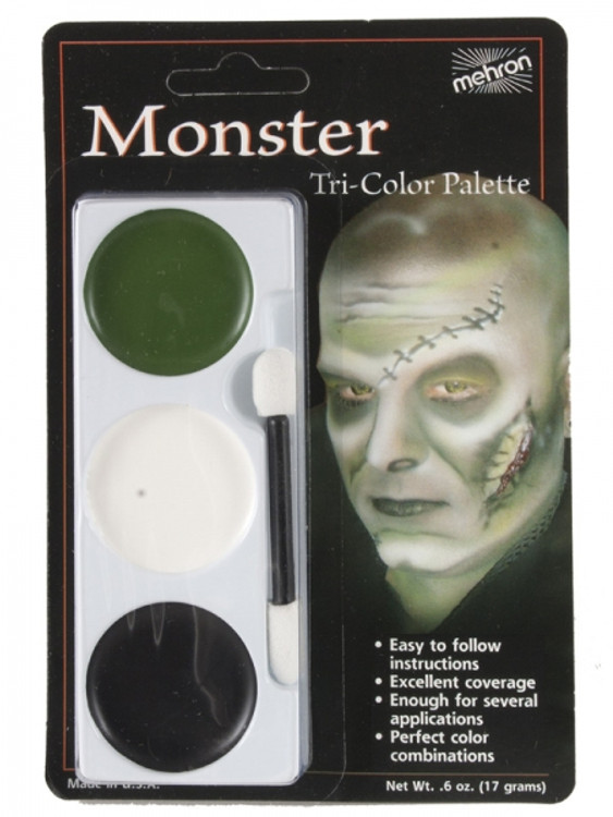 Copy of Copy of Tri-Colour Make-up Palette-Monster