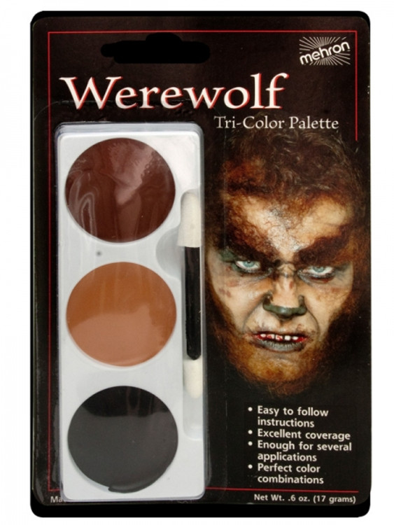 Tri-Colour Make-up Palette-Werewolf