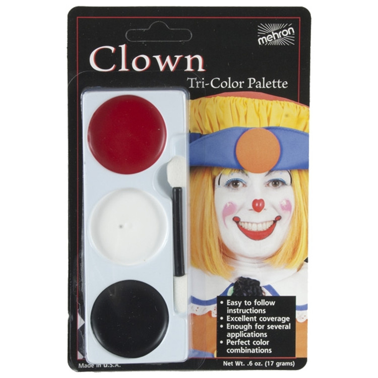 Tri-Colour Make-up Palette - Clown