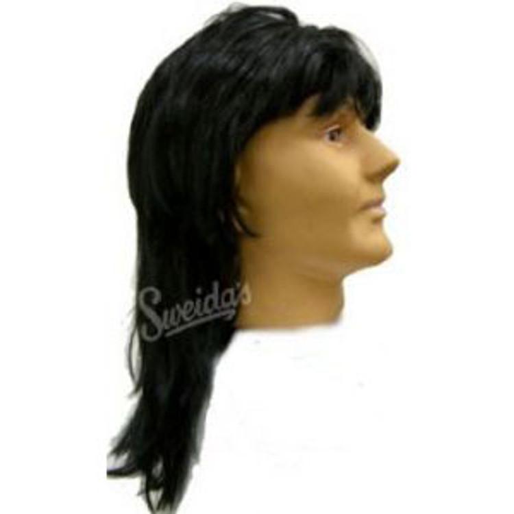 1980s Mullet Wig- Black