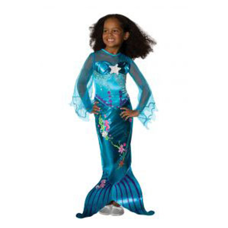 Magical Mermaid Blue Girls Costume