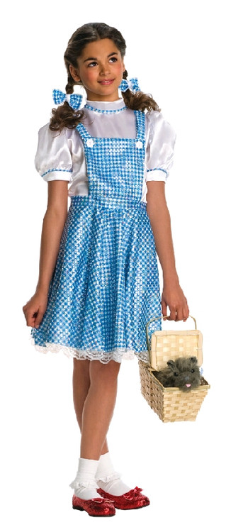 Wizard of Oz Dorothy Girls Sequin Costume