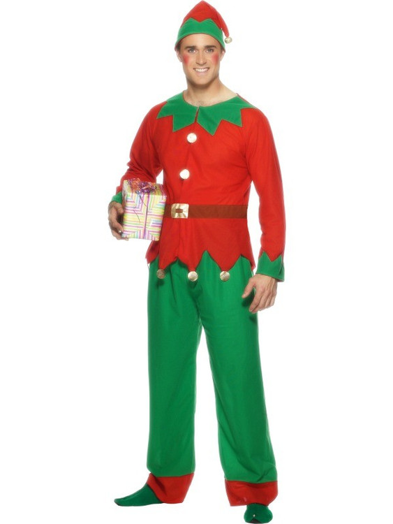 Elf Christmas Adult Mens Costume