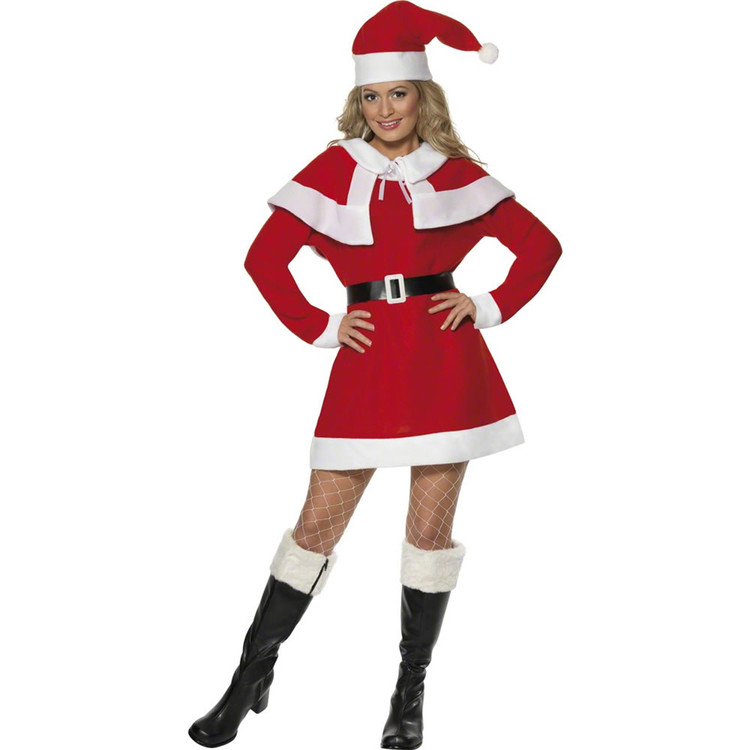 Miss Santa Christmas Fleece Womens Costume