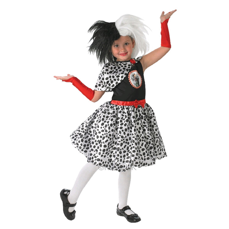CRUELLA DE VIL Girls Costume