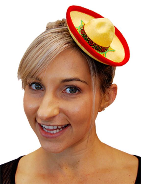 Mini Mexican Sombrero Hat - Yellow