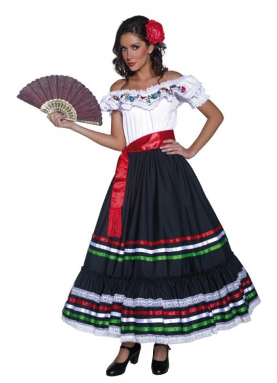 Authentic Western Senorita Women's Costume