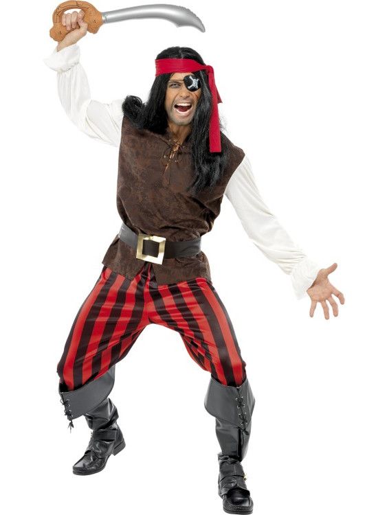 Pirate Ship Mate Men's Costume, SM32775PRE