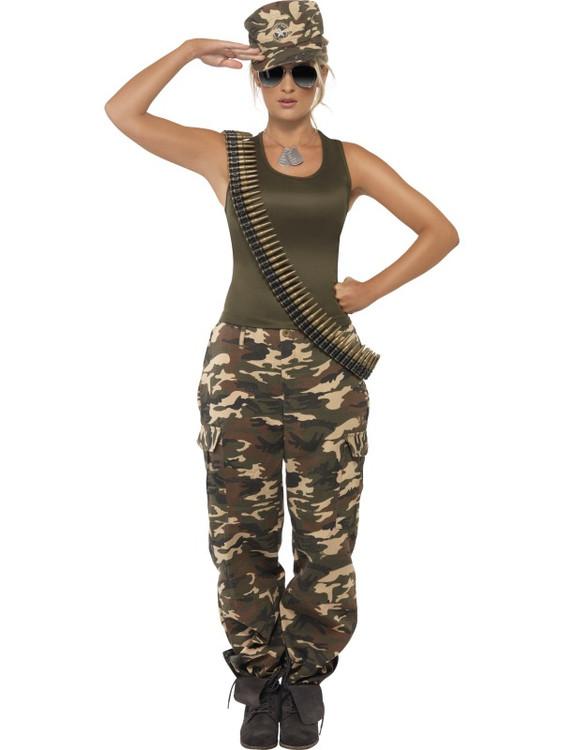 Military Khaki Camo Female Costume