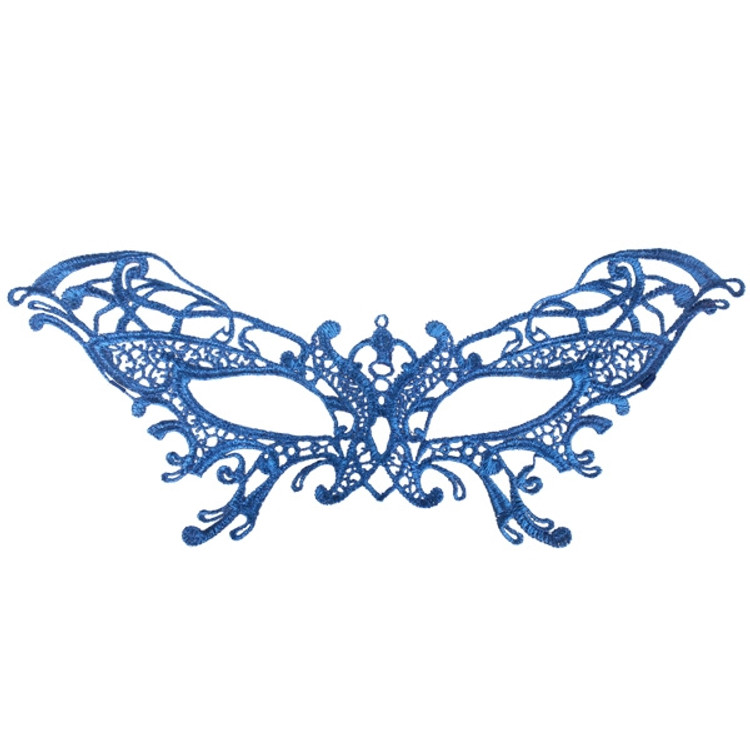 Serena Lace Eye Mask Blue