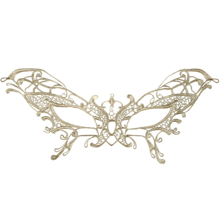 Serena Lace Eye Mask Gold