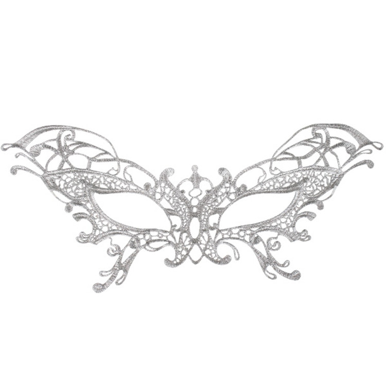 Serena Lace Eye Mask Silver