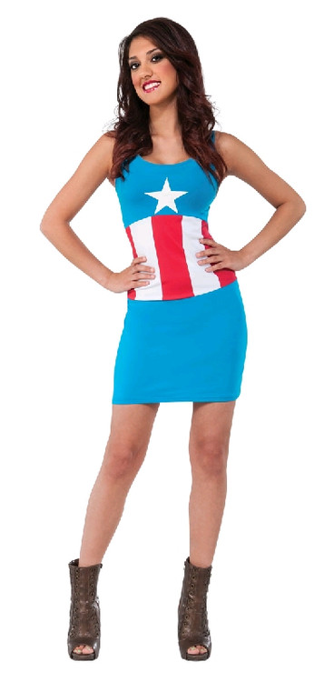 CAPTAIN AMERICA TANK DRESS