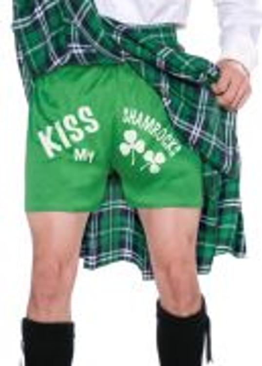 St Patrick's Kilt and Shorts Mens Costume